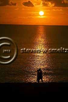Romantic Stroll at Sunset On Seven Mile Beach Grand Cayman (Steven Smeltzer)